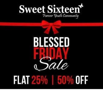 Sweet sixten bless frieday sale 2020